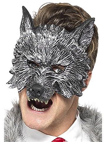 Smiffys - 20348 - Déguisement - Homme - Masque du Grand Méchant Loup - Taille Unique - Gris
