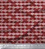 Soimoi Rot Viskose Chiffon Stoff marokkanisch Damast Stoff