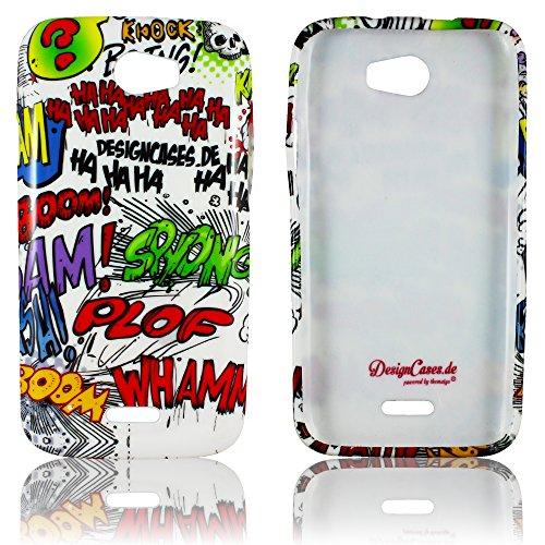 Wiko Barry Schutz-Hülle Silikon Comic Haha weiche Tasche Cover Case Bumper Etui Flip smartphone handy backcover thematys®