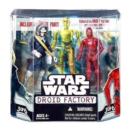 Star Wars Saga 2008 Build-A-Droid Factory Action Figure 2-Pack Han Solo (Hoth Gear) and R-3PO by Star Wars -