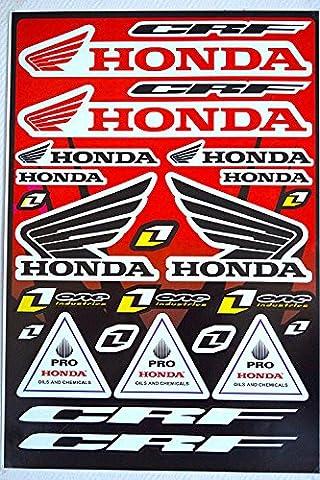 Autocollants Stickers HONDA CRF Feuille de 25 Stickers