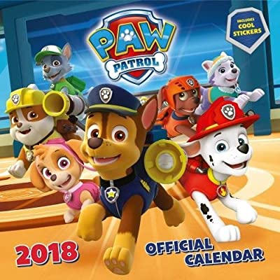 Paw Patrol Official 2018 Calendar with Stickers - Square Wall Format