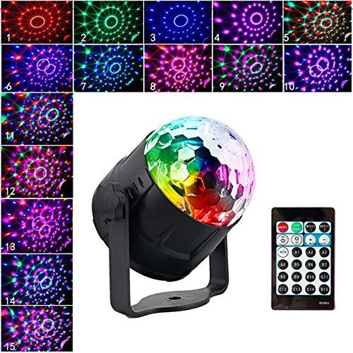 ei Lichter LED Disco Ball Projektor 15 Farbe mit Fernbedienung Bühne Bar KTV Hochzeit Zeigen Pub Licht ()
