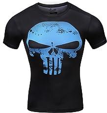 Cody Lundin Männer Fitness T-Shirt Männer Kompression Laufen Bewegung Training Shirt Herren Schädel gedruckt Kurzarm