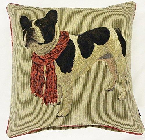 Gefüllt Französische Bulldogge Baumwolle 18 Rot Beige Rv -