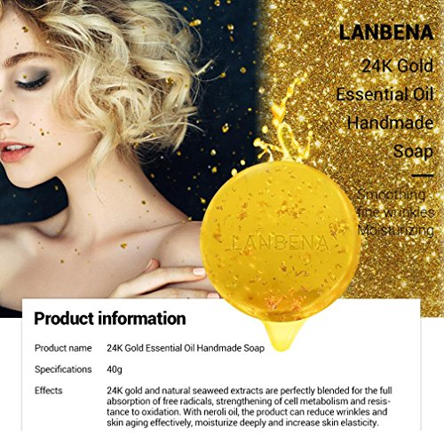 Preisvergleich Produktbild gaddrt 24K Gold ernährt natürliche Haut,  die handgemachte Kräuterseife gesundes Shampoo weiß wird