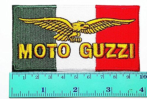 LipaLipaNa Moto Guzzi Patch Motorrad Motorsport Motorräder Biker Racing Logo Patch Nähen Eisen auf Jacke Kappe Weste Abzeichen Zeichen Logo Applique Souvenir Zubehör