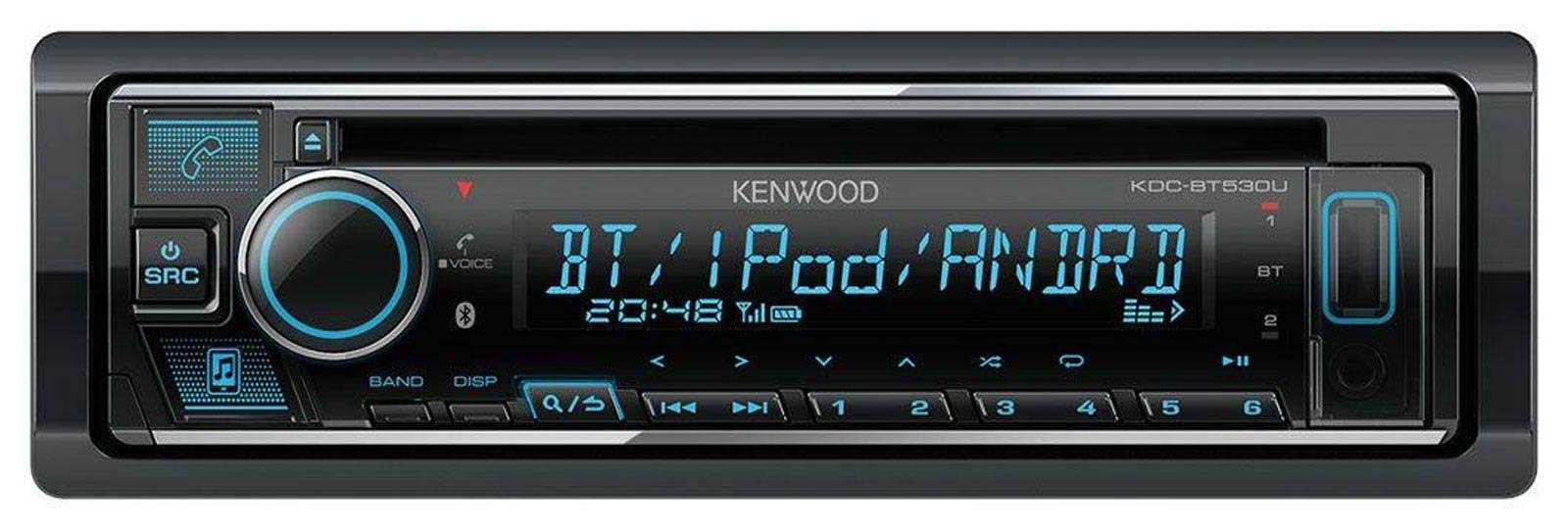 caraudio24-Kenwood-KDC-BT530U-AUX-MP3-Bluetooth-USB-CD-Autoradio-fr-FIAT-500-ab-2007-schwarz