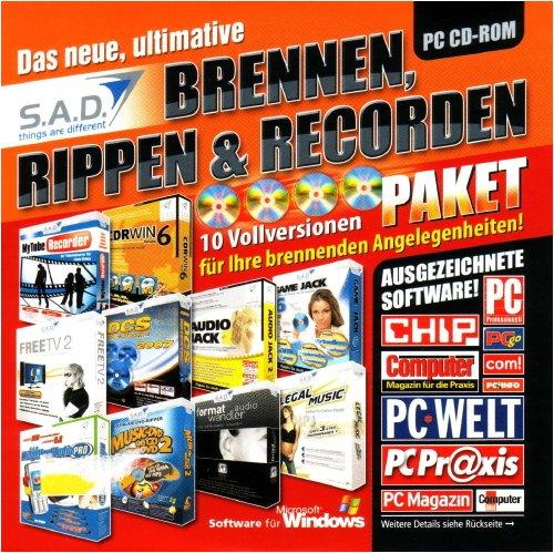 S. A. D. Das neue, ultimative Brennen, Rippen & Recorden (Audio Jack 2, CDRWin 6, DCS 2007, Formatwandler Audio, FreeTV 2, Game Jack 6, KlingentonStudio Pro, Legal Music, ...)