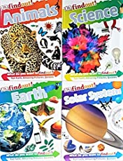 DK Findout ! - Set of 4 Books: Science, Solar System, Earth, Animals