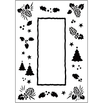 10.8 x 14.6 cm Transparent Darice Leafy Tree Trunk Embossing Template