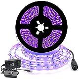 Arotelicht Uv-ledstrip,blacklight,5M,strip set,SMD2835,uv-licht,lichtstrip met voeding,voor carnaval, bar, disco, party, deco