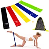 6Pcs Resistance Bands Exercise Bands for Woman Yoga Resistance Loop Bands for Legs and Butt Workout Bands for Home GYM Fitnes