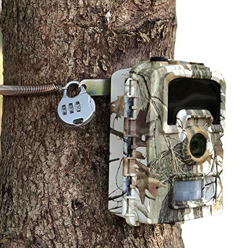 ARTITAN Wildkamera Sperren Einstellbar PIN Sperre Jagdkamera Metall Sicherheitsverriegelung Gurt Spiel Kamera Diebstahlschutz