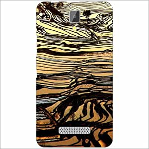 Lenovo A2010 Back Cover - Bamboo Lines Desiner Cases