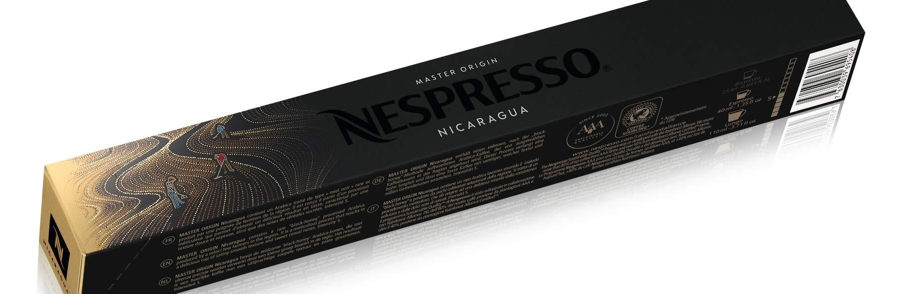 Nespresso Original Master Origin coffee pods and capsules (a cereal, honey coffee with aromas of nutty)