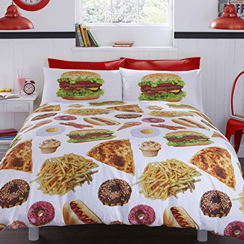 bedding-munchies-fast-food-230cm-x-220cm-uk-king-size-cotton-blend-duvet-cover