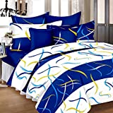 #9: HighLife Ahmedabad Cotton Superior Cotton Double Bedsheet With 2 Pillow Covers - Intense Blue