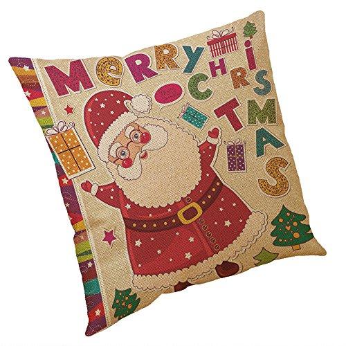 zug, Kissenhülle 45x45cm Leinenmischung Herbst Winter Santa Christmas Tree Snowman Halloween Christmas Sofa deko Pillows Cover Office Pillowcase Super weich Kissenbezüge (A) ()