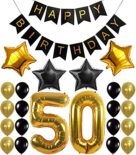 50th Birthday Party Decorations Set - everything you need!