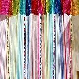 Mishiner Linea di corde decorative colorate Tassel Tenda con perline Pannello divisorio per porte, dimensioni: 100cm x 200cm