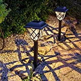 2er Set LED Solar Wegbeleuchtung Vintage Lights4fun