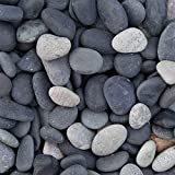 zierkiesundsplitt Beach Pebbles Schwarz 1800kg Big Bag 8-16mm, 16-25mm, (8-16mm)