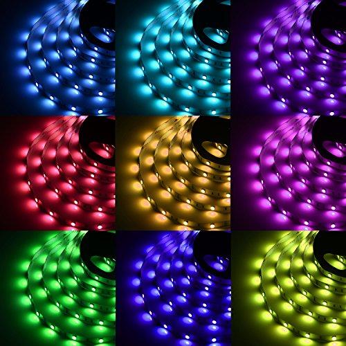 Sunnest Tira LED De Luz RGB 5m 150 Leds 5050 SMD Tira...
