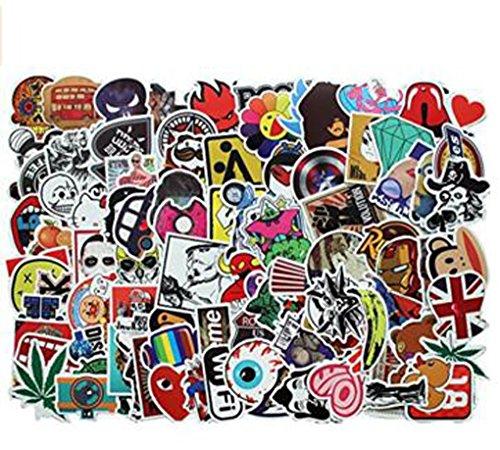car-stickers-decals-pack-100-pieces-bumper-stickers-random-patterns