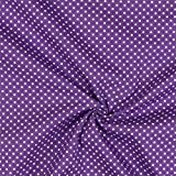 Fabulous Fabrics Baumwollstoff Duplex Punkte 6 lila —