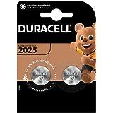 Duracell Specialty 2025 Lithium-Knopfzelle 3V, 2er-Packung (CR2025 /DL2025) entwickelt für die Verwendung in Schlüsselanhäng