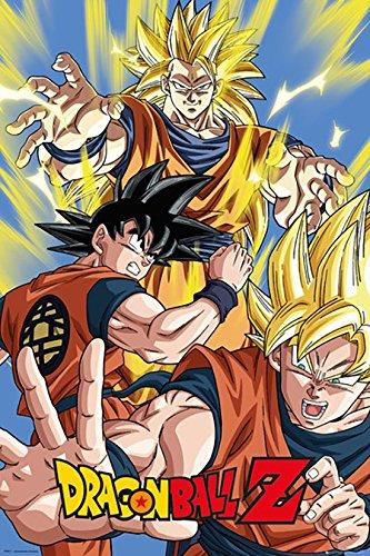 GB Eye Maxi-Poster, Goku aus der Fernsehserie Dragon Ball Z, Mehrfarbig, 61x 91,5cm