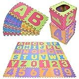 Profun Alfombra de Puzzle Alfombra Infantil de Goma EVA 36/40pcs Desmontables Manta de Actividades de Espuma Gigante de Suelo para Niños (30*30cm(36pcs))