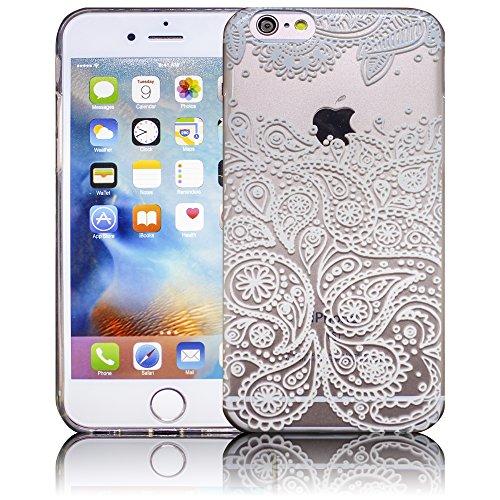 Apple iPhone 6 / iPhone 6S - Design 11 Silikon Crystal Kristall clear transparent durchsichtig Schutz-Hülle Hülle weiche Tasche Cover Case Bumper Etui Flip smartphone handy backcover Schutzhülle Handy Design 7