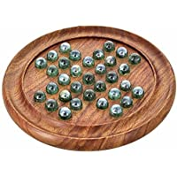 """Royal Handicrafts Wooden Solitaire Board Game (9"""")"""