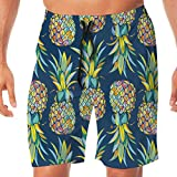Men's Swim Trunks Colorful Seamless Vector Pattern with Pineapples 451774285 Quick Dry Beach Wear Shorts Swimwear with Pockets XL