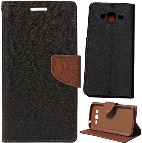 Novo Style Fancy Diary Wallet Flip Cover Case For Samsung Galaxy A7 Black + Ok Stand For Smartphones And Tablets