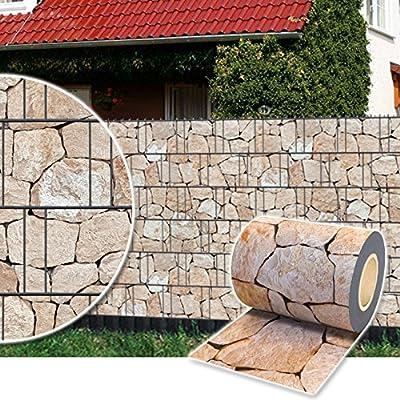 Sichtschutz Rolle 35m blickdicht PVC Zaunfolie Sichtschutzfolie Windschutz für Doppelstabmatten Zaun Sichtschutzrolle