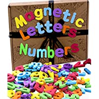 Jaques of London. Magnetic Letters and Numbers. Fridge Magnets for Kids. Perfect Educational Toys for 1 2 3 year olds since 1795