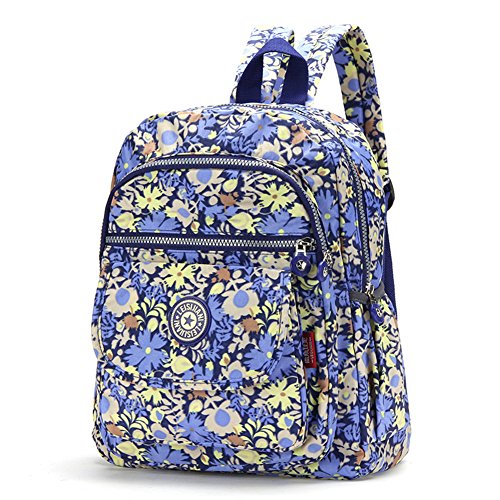 FORU BAG - Zaino leggero borsa impermeabile CLAS Seoul da donna per sport, escursionismo, ciclismo, 33cm, portatile per la scuola, palestra, campeggio, trekking, City Pack, donna, Macarons Stripe, M Blue Cornflower