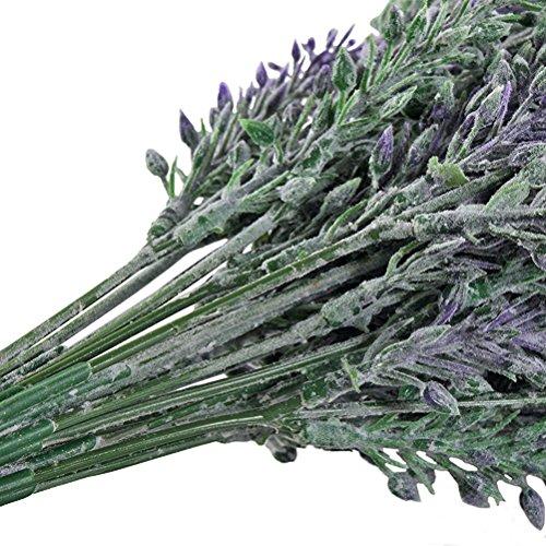 WINOMO 4stk Künstliche Blumen Pflanzen Lavendel Bouquet Brautmoden Home DIY Garten Büro Hochzeit Decor(Purple)