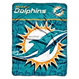 NFL Miami Dolphins Micro Raschel Throw Blanket, 46 x 60-Inch