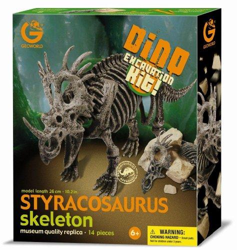 Imagen principal de Geoworld Dino Excavation Kit 23211299 Styracosaurus - Kit de excavación de esqueletos de dinosaurio (26 cm)