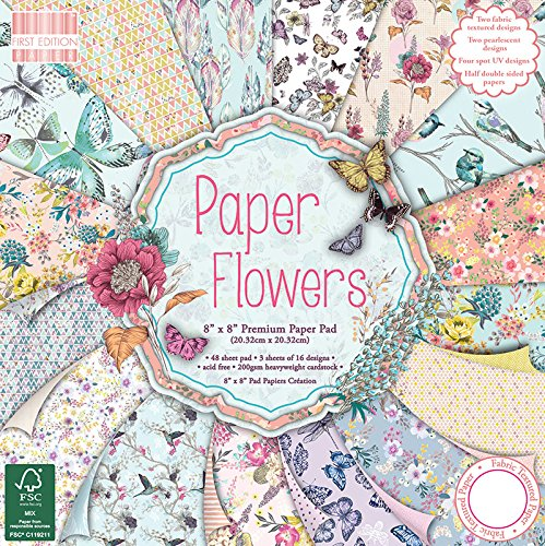 First Edition Paper Flowers Premium Paper Pad 8
