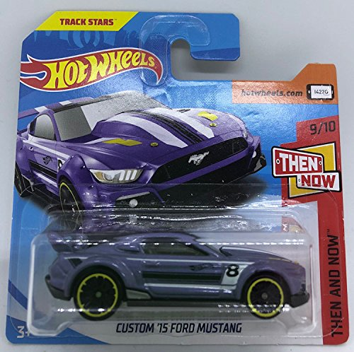 Hot Wheels 2018 Custom '15 Ford Mustang Purple 9/10 Then and Now 199/365 (Short Card) (Hot Wheels Mustang)