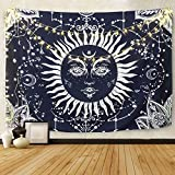 YISUMEI 230x150 cm Tapisserie Psychedelic Moon and Sun Wandbehang Tabelle Vorhang Wand Decor Tisch Couch Bezug Picknick Decke Beach Überwurf