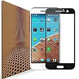 VLP Kompatibel mit HTC 10 Panzerglas Schutzfolie, Super Clarity Abdeckung Voll Display 2.5D Kanten 9H Anti Kratzer Panzerglasfolie Schutzfolien für HTC 10 (Black)