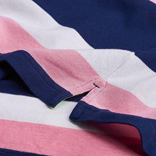 Gant - Thre Color Stripe Pique Rugger, Polo Uomo Corallo Brillante