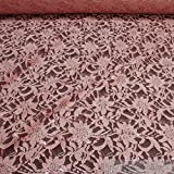 Stoff Polyamid Polyester Elastan Spitze rosa Blume