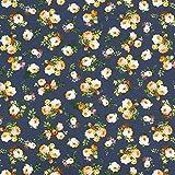 Unbekannt Canvas Blumenbouquet klein 3 – navy —